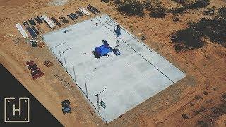 DIY Off Grid Steel Garage - Versatube Base Rails (part 4)