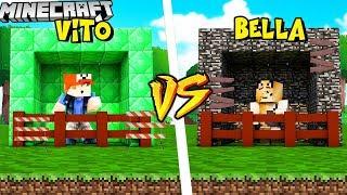 BAZA Z EMERALDÓW VS BAZA Z BEDROCKA - MINECRAFT | Vito vs Bella