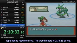 Pokemon Emerald any% glitchless speedrun in 2:33:04 [current world record]