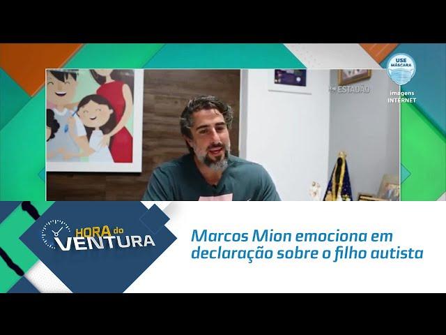 Marcos Mion emociona em declaração sobre o filho autista