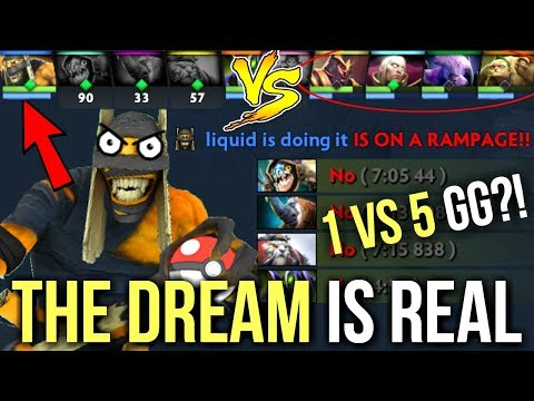 OMG! THE DREAM! Unbelievable Ending of the Game 1vs5 Dota 2 [MUST WATCH]