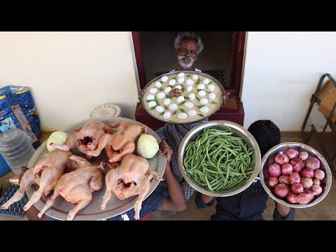 FRIED RICE !!! CHICKEN Fried Rice Prepared by My Daddy ARUMUGAM / Village food factory