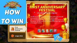 First Anniversary Festival FULL GUIDE to WIN MAX legendaries! | Rise of Kingdoms