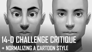 Eleştiri Saat! 14-D Challenge, çizgi film tarzı Normalize.