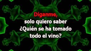 Quién Se Ha Tomado Todo el Vino - La Mona Gimenez (con letra Karaoke)
