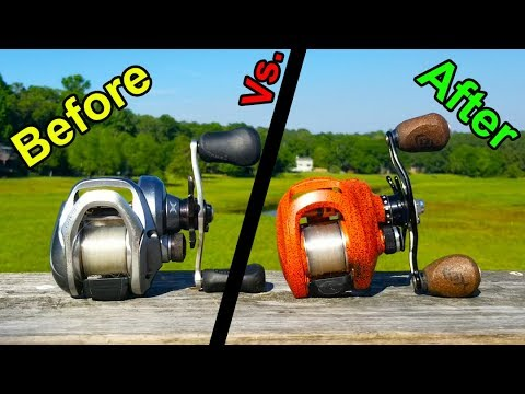 Before Vs. After CUSTOM PAINTED Fishing Reels!