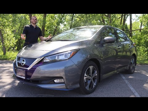 2020 Nissan Leaf Canada Review   SL Plus Test Drive  