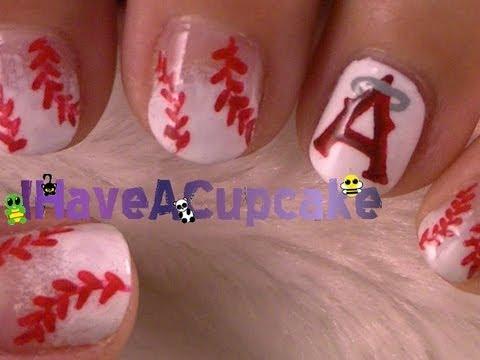 Baseball Nail Art - Baseball Nail Art - YouTube