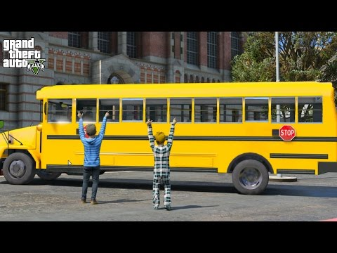 GTA 5 TREVOR'S LIFE #13 SCHOOL BUS DRIVER JOB
