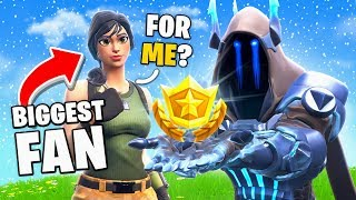 GIFTING MY BIGGEST FAN *MAX* SEASON 7 BATTLE PASS on Fortnite! (tier 100)