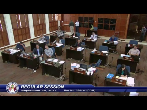 34th Guam Legislature Morning Session - September 26, 2017