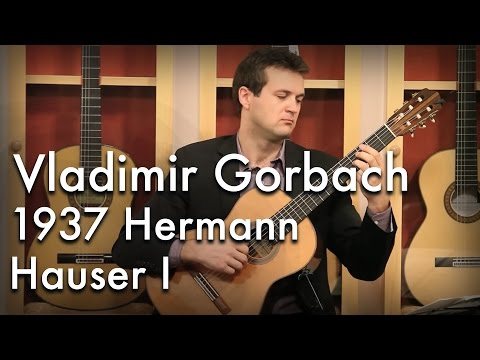 Llobet's Variations on a Theme by Sor played by Vladimir Gorbach