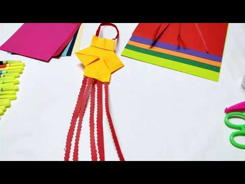 Diwali lamp - How to make lamp - Easy and step by step craft tutorial for kids Origami projects