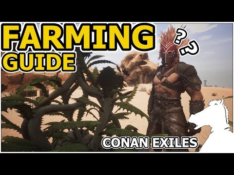 FARMING GUIDE OR How to plant seeds! | CONAN EXILES