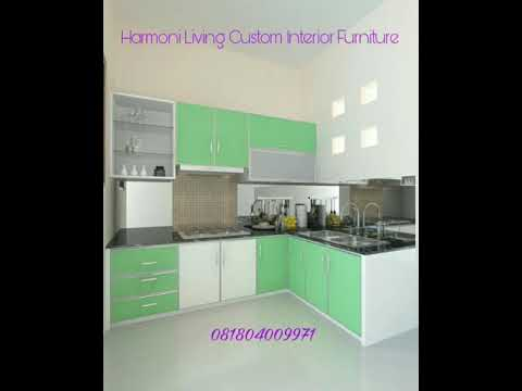 Kitchenset Warna Hijau Super Elegant Harmoni Living Youtube