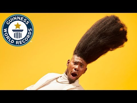 Tallest high top fade - Meet the Record Breakers