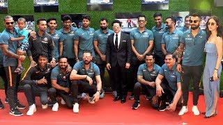 Indian Cricket Team At Sachin Movie GRAND Premiere  MS Dhoni, Yuvraj Singh, Shikhar Dhawan