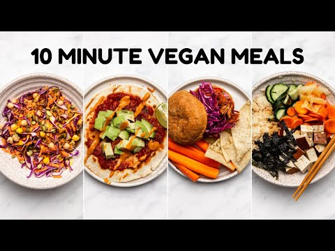 Easy 10 MINUTE Vegan Meals ��