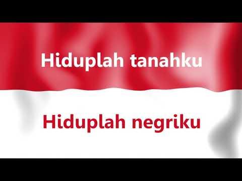 Lagu Indonesia Raya dengan Teks