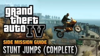 GTA 4 - Stunt Jumps [Dare Devil Achievement / Trophy] (1080p)