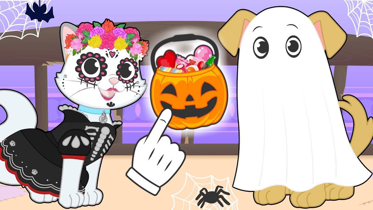 BABY PETS 👻🧻 Kira y Max se disfrazan de FANTASMA y CATRINA para HALLOWEEN 🎃