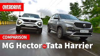 MG Hector vs Tata Harrier | OVERDRIVE