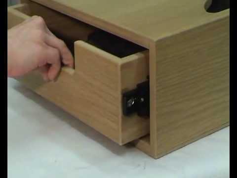 how does a soft close drawer slide work youtube. Black Bedroom Furniture Sets. Home Design Ideas