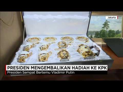 Presiden Jokowi Mengembalikan Hadiah dari Rusia ke KPK
