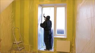 Мобильная покраска ПВХ окон на дому. Генподрядчик ООО