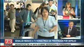 EsSalud reduce a 72 horas pago de prestación por sepelio