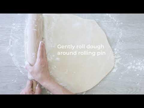 Transferring Pie Dough to a Pie Pan