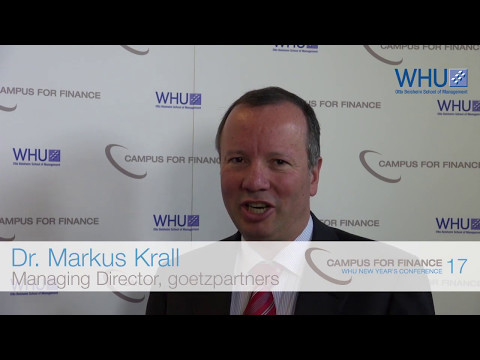 Interview with Markus Krall at the Campus for Finance – WHU New Year's Conference 17