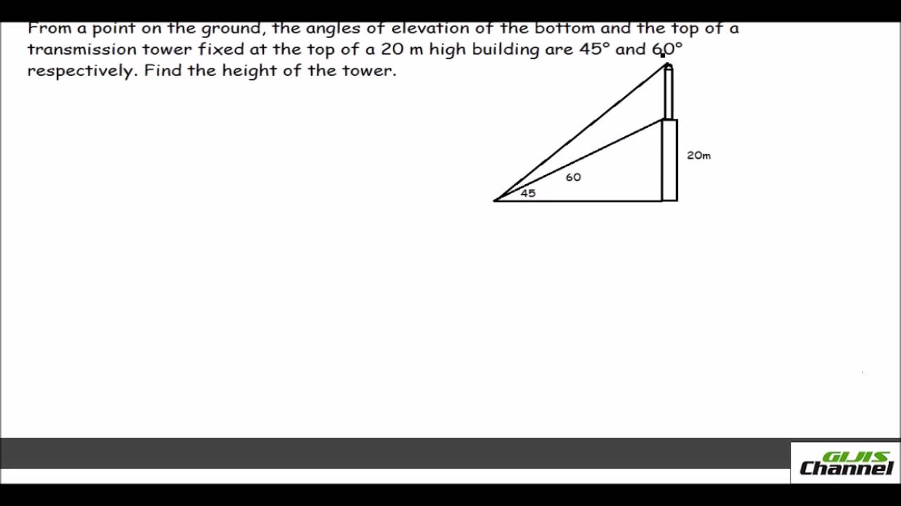 Trigonometry problems with one Triangle and two angles