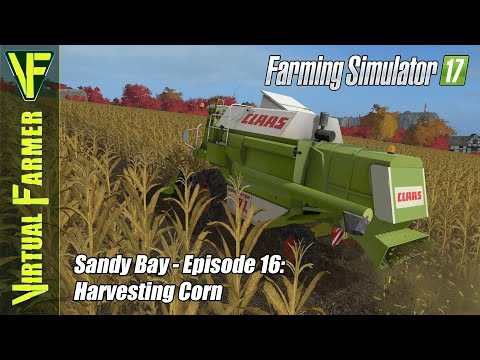 Let's Play Farming Simulator 17 - Sandy Bay, Episode 16: Harvesting Corn