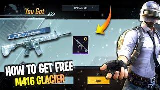 Free M416 Skin Bgmi/Pubg 🔥   How to Get M416 Glacier in Bgmi   How to Get M4 Glacier in Bgmi Free