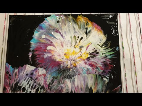 Acrylic Ball A Hopper Flower (English)  Акриловая заливка Цветы😍 Мяч попрыгун 🤔  #0189