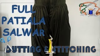 Full Patiala Salwar | Cutting and Stitching