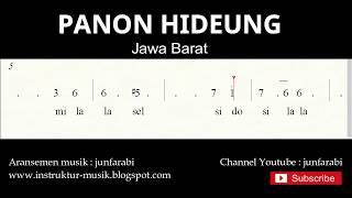 not angka panon hideung - lagu daerah tradisional nusantara indonesia - doremifasol