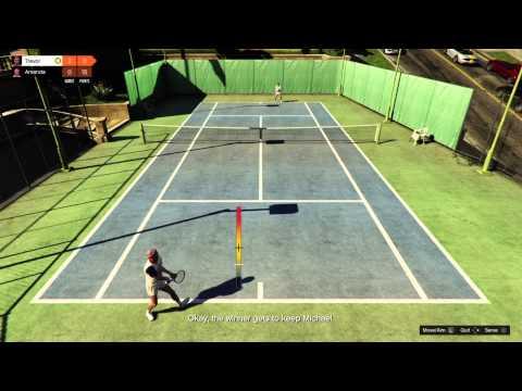 Trevor & Amanda Plays Tennis. Gta V PS4 2014