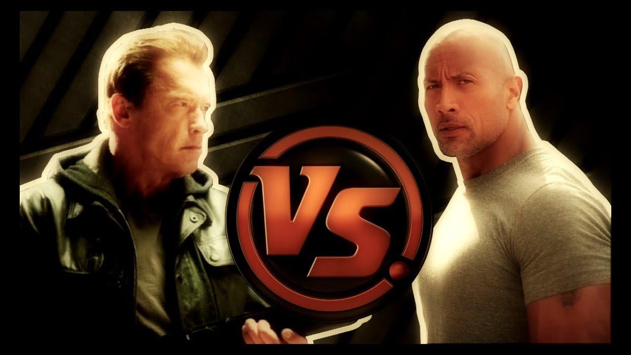 ... Vs Dwayne Johnson Body Versus: arnold schwarzenegger vs dwayne johnson