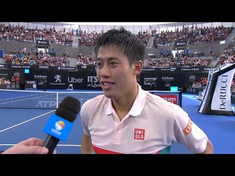 Kei Nishikori on-court interview (SF) | Brisbane International 2019