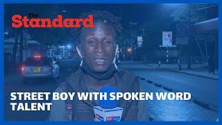 Street Boy impresses with spoken word talent