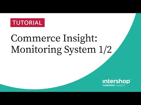 Intershop Commerce Insight - Video Tutorial of our Monitoring System 1/2
