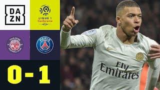 Kylian Mbappe führt PSG zum Sieg: Toulouse - Paris Saint-Germain 0:1 | Ligue 1 | DAZN Highlights