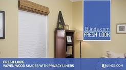 Privacy Liner Options for Woven Wood Shades