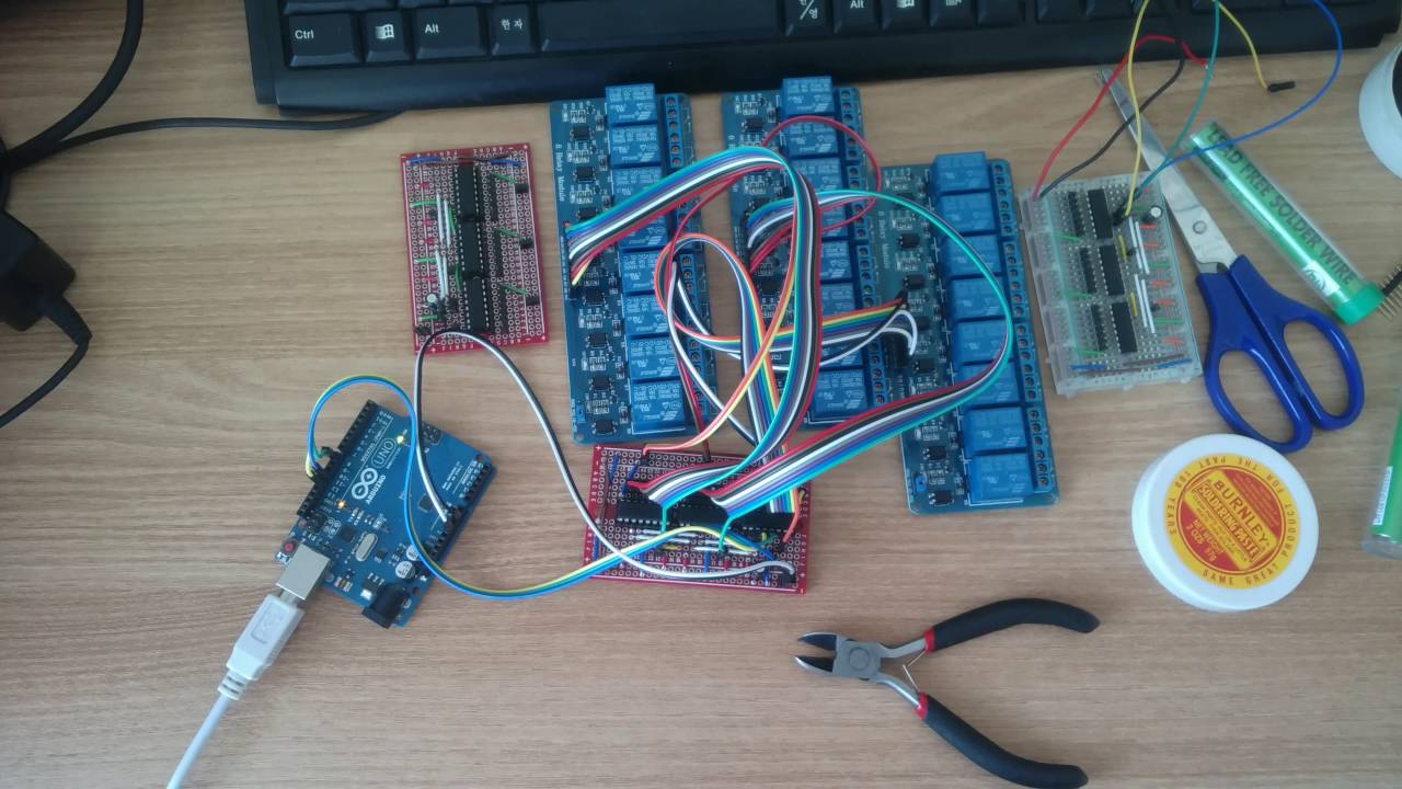 Arduino Shift Register Relay Youtube Lcd With 74hc595 8211 Part 1