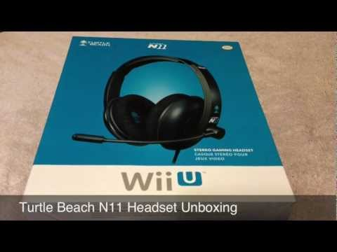 Wii U - Turtle Beach N11 Headset Unboxing (Official Licensed Headset)