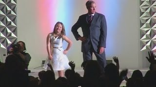 models with down s syndrome joined by celebrities for charity fashion show