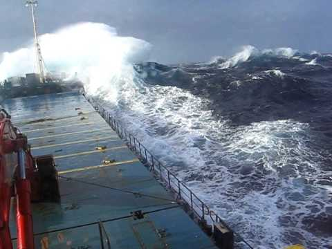 Coaster Crossing Biscay in bad weather
