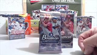 2018 Bowman Platinum Blaster Box & Fat Pack Break  **Auto**
